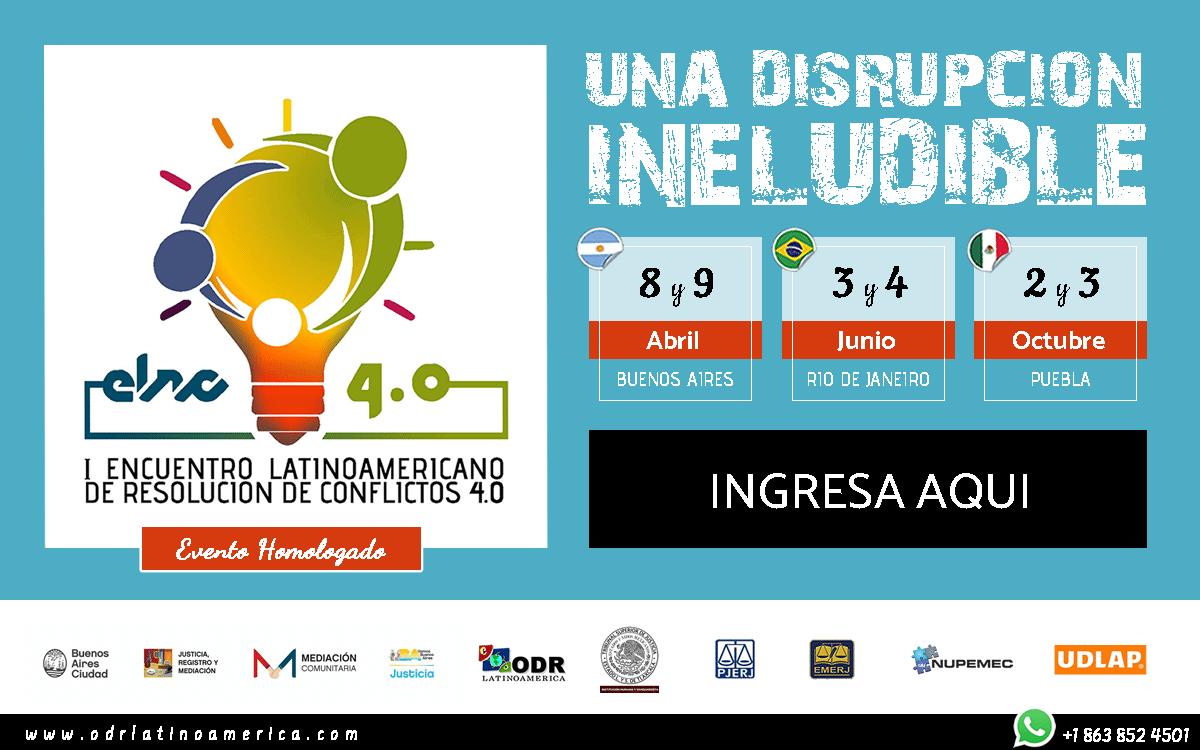 I Encuentro Latinoamericano de Resolución de Conflictos 4.0 Buenos Aires