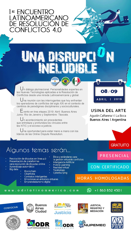 1er ENCUENTRO LATINOAMERICANO DE RESOLUCIÓN DE CONFLICTOS 4.0 - ODR LATAM